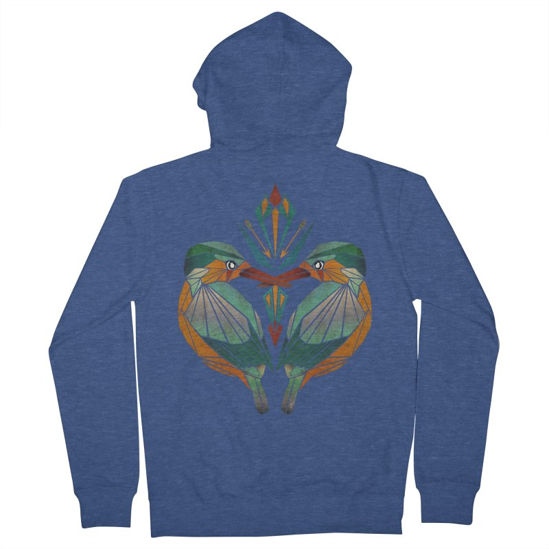 kingfisher Women's Zip-Up Hoody by manoou's Artist Shop