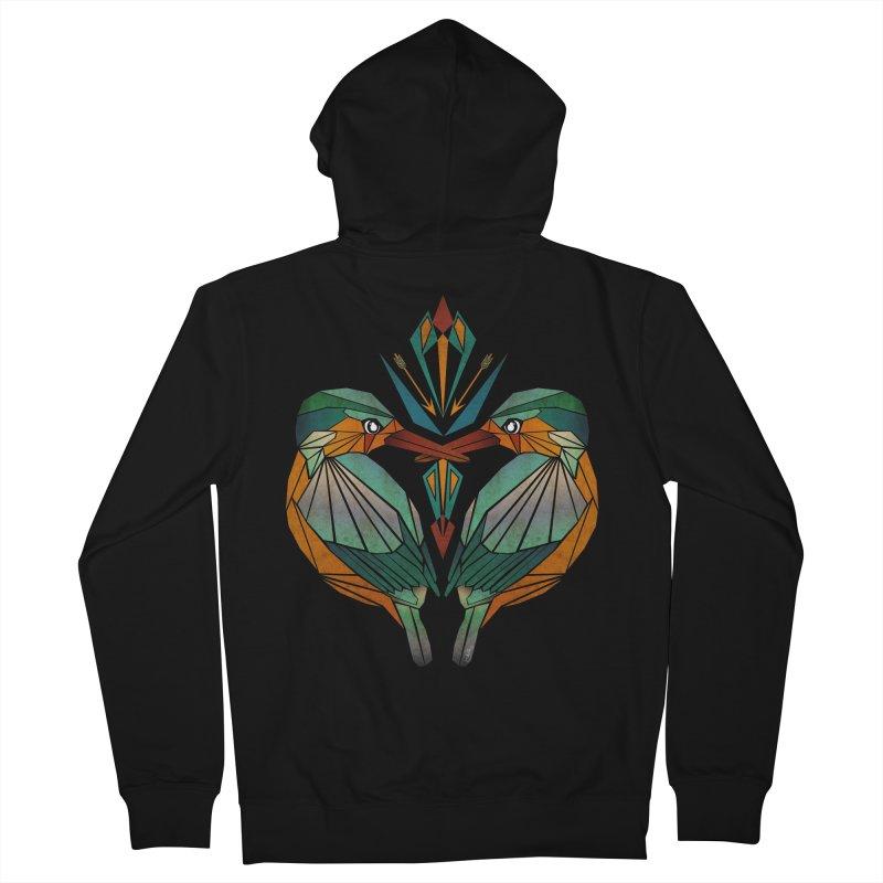 kingfisher Men's Zip-Up Hoody by manoou's Artist Shop
