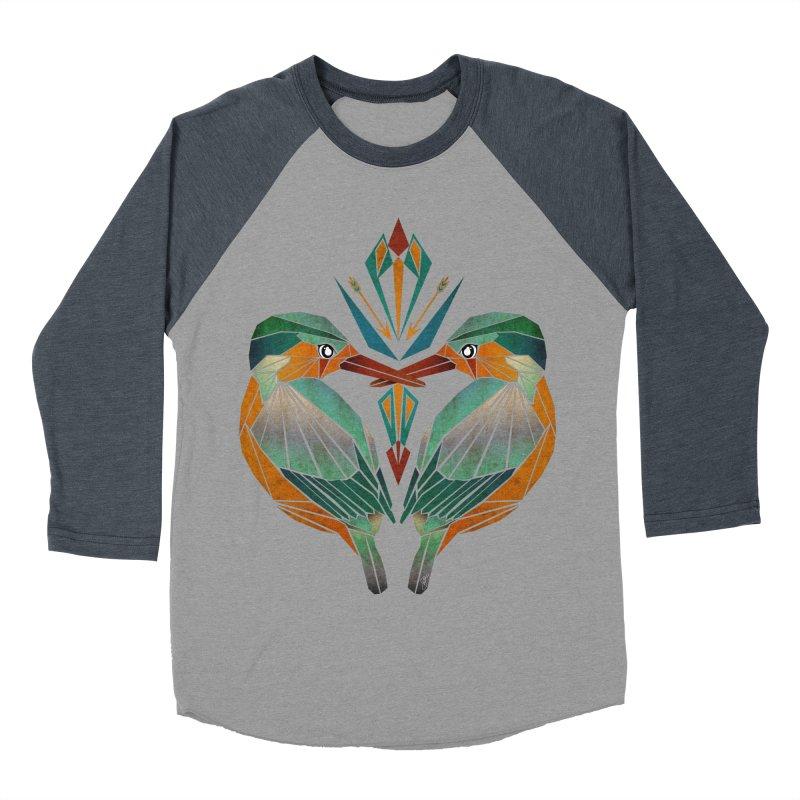 kingfisher Women's Baseball Triblend T-Shirt by manoou's Artist Shop