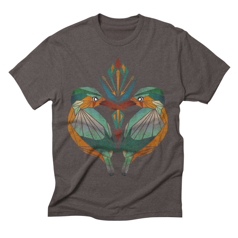 kingfisher Men's Triblend T-shirt by manoou's Artist Shop