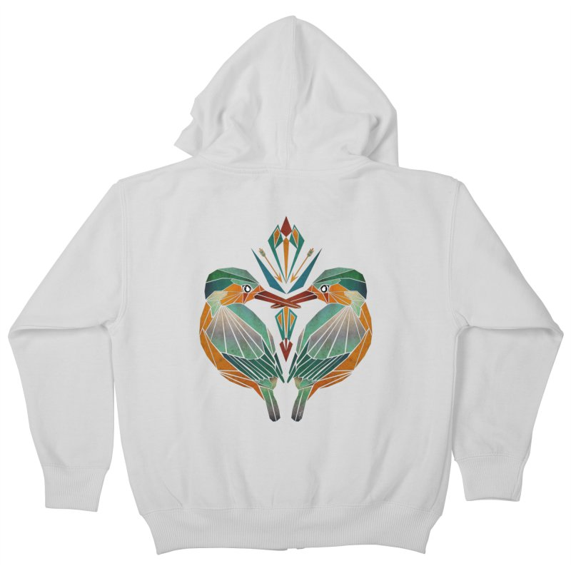 kingfisher Kids Zip-Up Hoody by manoou's Artist Shop