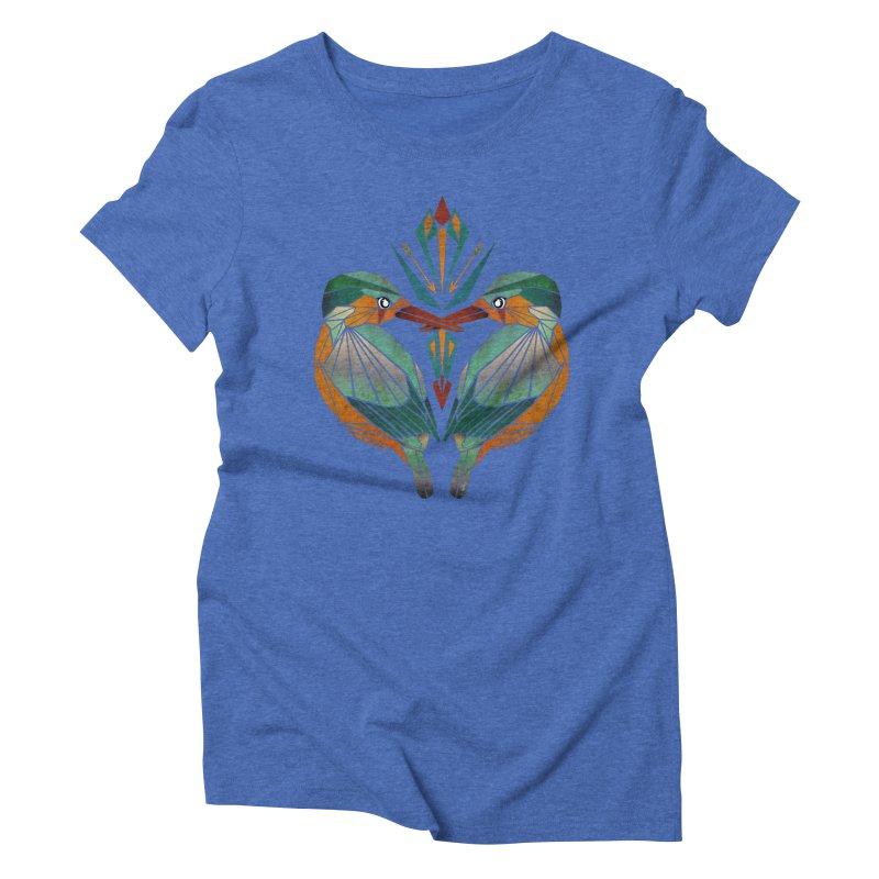 kingfisher Women's Triblend T-Shirt by manoou's Artist Shop