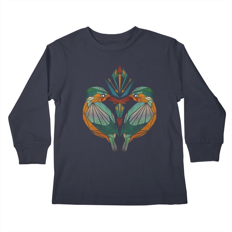 kingfisher Kids Longsleeve T-Shirt by manoou's Artist Shop