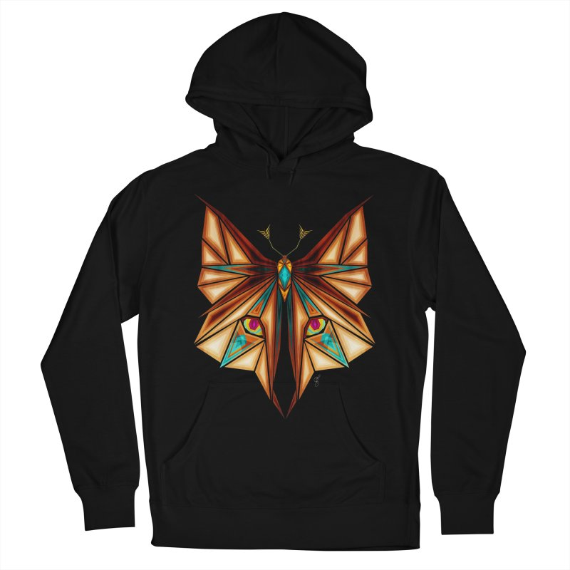 fox or butterfly Men's Pullover Hoody by manoou's Artist Shop