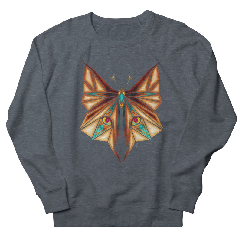 fox or butterfly Men's Sweatshirt by manoou's Artist Shop