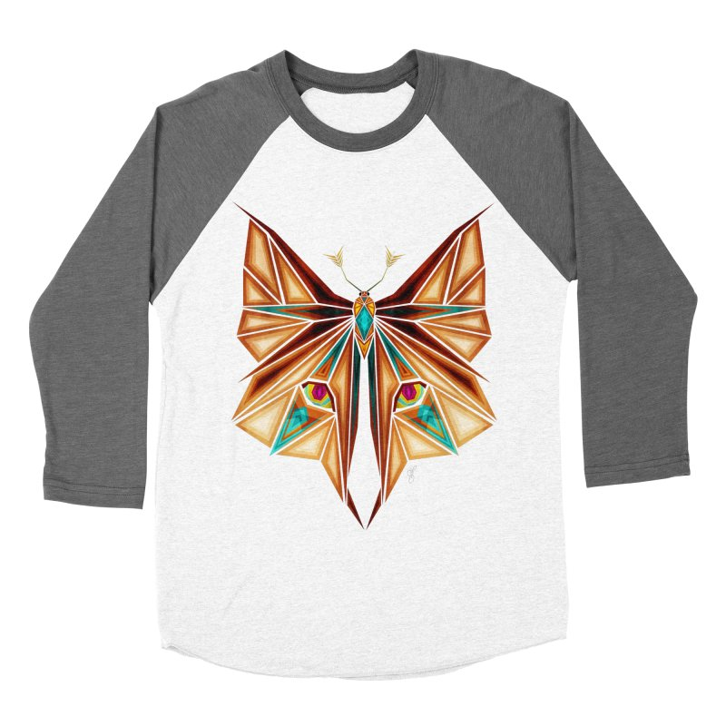 fox or butterfly Women's Baseball Triblend T-Shirt by manoou's Artist Shop