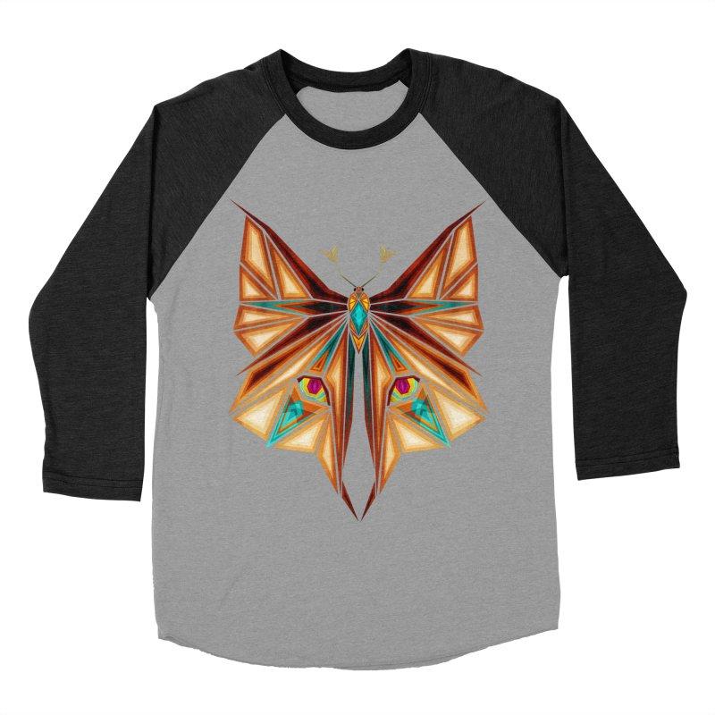 fox or butterfly Women's Baseball Triblend T-Shirt by manoou's Artist Shop