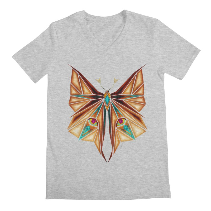 fox or butterfly Men's V-Neck by manoou's Artist Shop