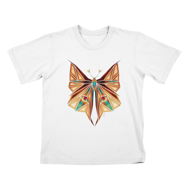 fox or butterfly Kids T-Shirt by manoou's Artist Shop