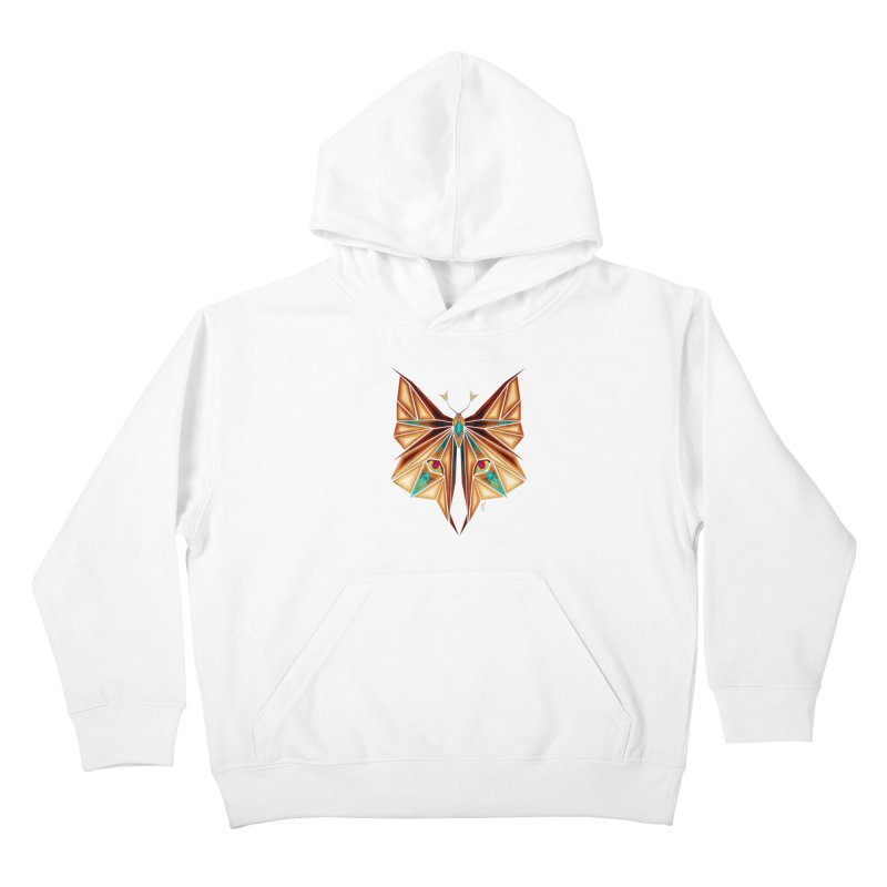 fox or butterfly Kids Pullover Hoody by manoou's Artist Shop