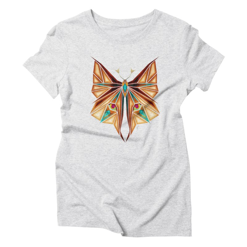 fox or butterfly Women's Triblend T-Shirt by manoou's Artist Shop