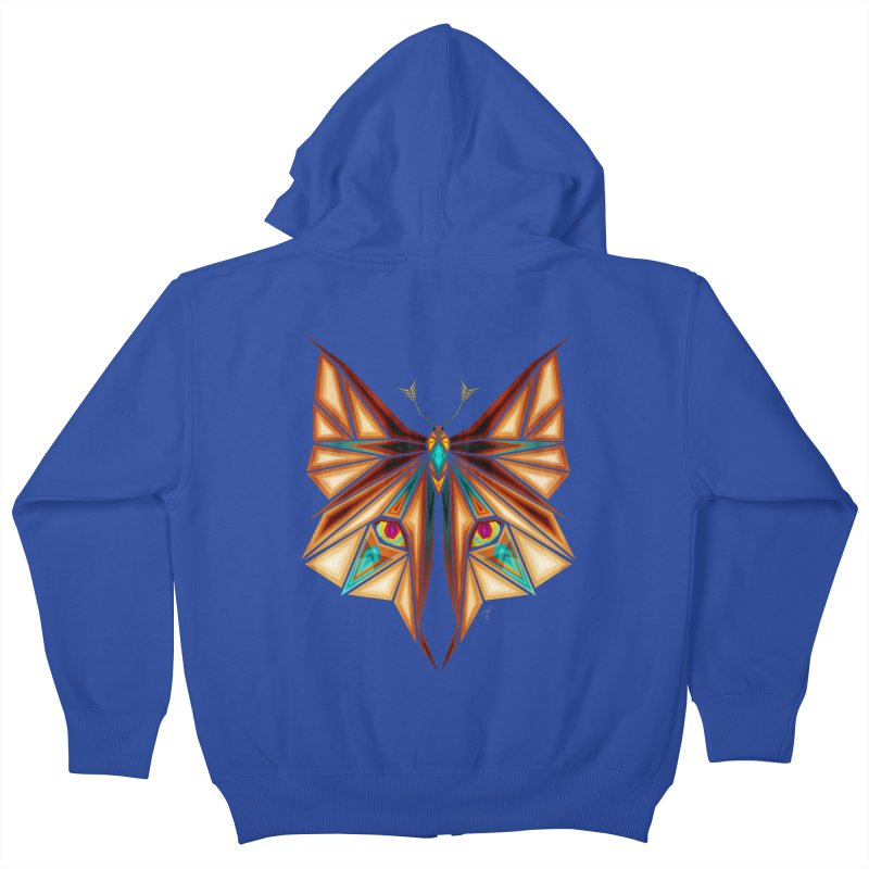 fox or butterfly Kids Zip-Up Hoody by manoou's Artist Shop