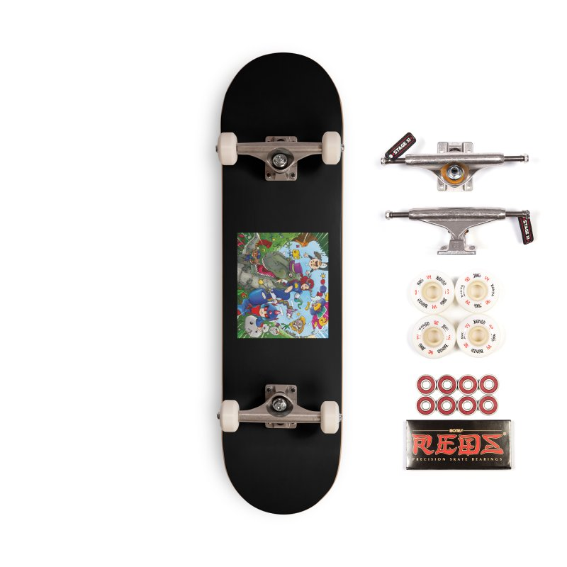 Team Cool are go Accessories Skateboard by Mansemat & Moloch