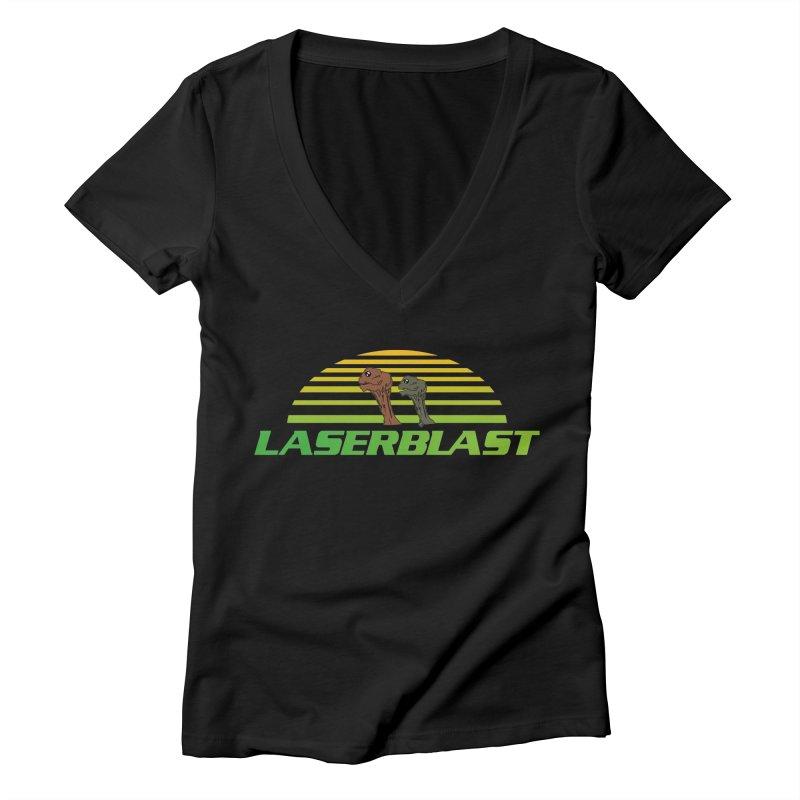 Laserblast Women's V-Neck by Mansemat & Moloch