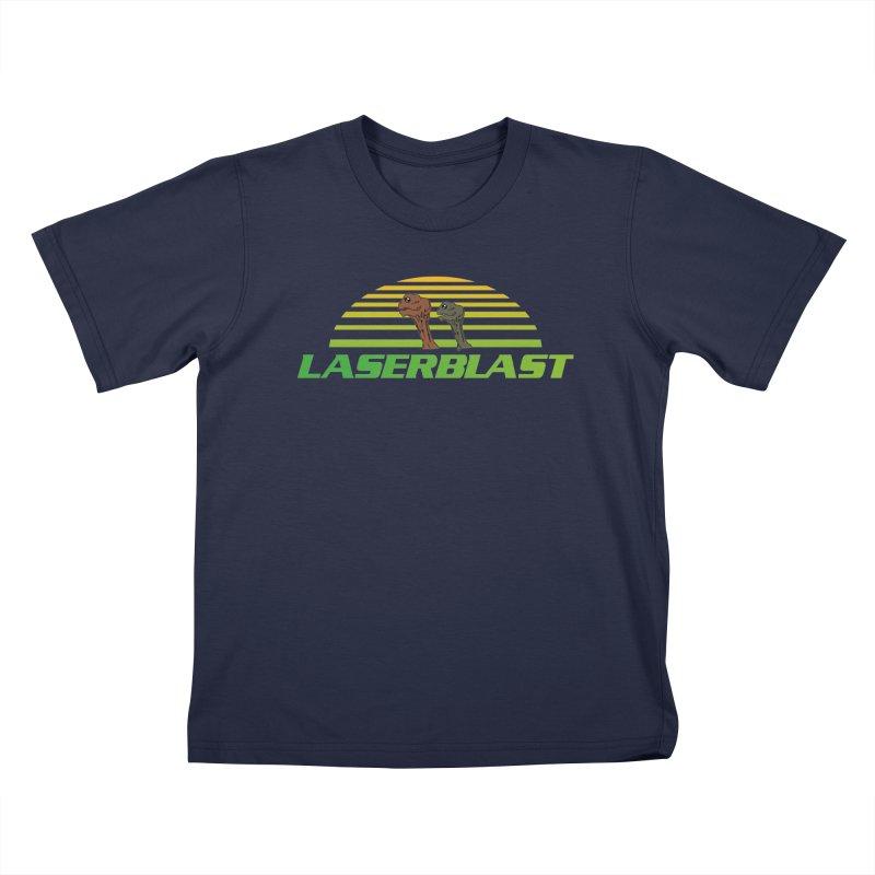 Laserblast Kids T-Shirt by Mansemat & Moloch
