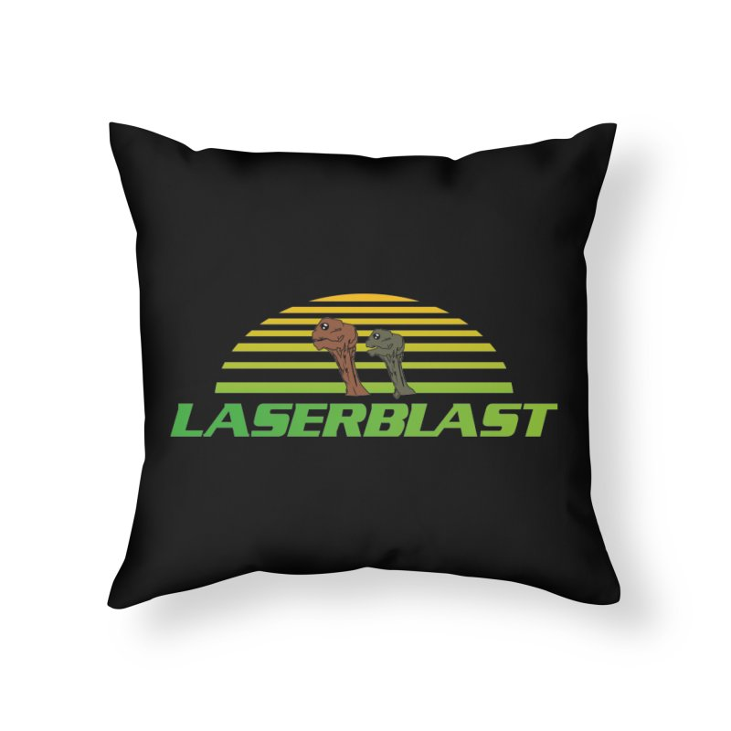 Laserblast Home Throw Pillow by Mansemat & Moloch