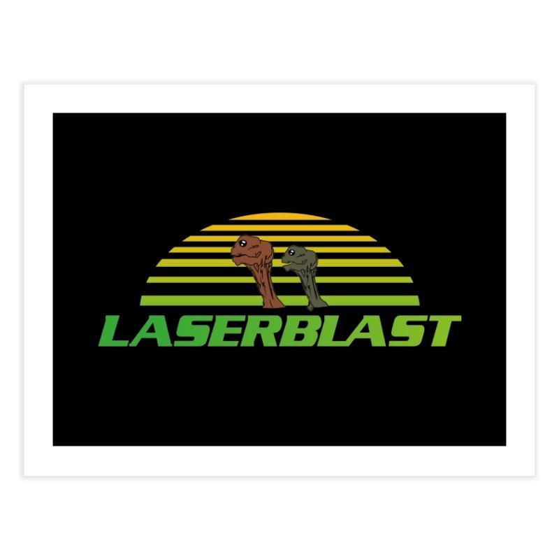 Laserblast Home Fine Art Print by Mansemat & Moloch