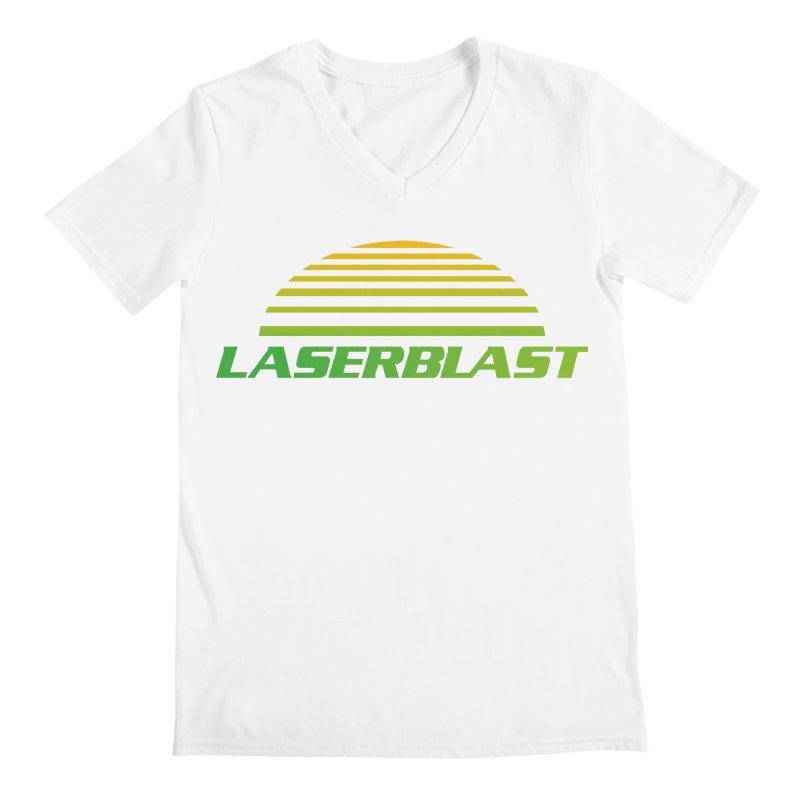 Laserblast Men's V-Neck by Mansemat & Moloch