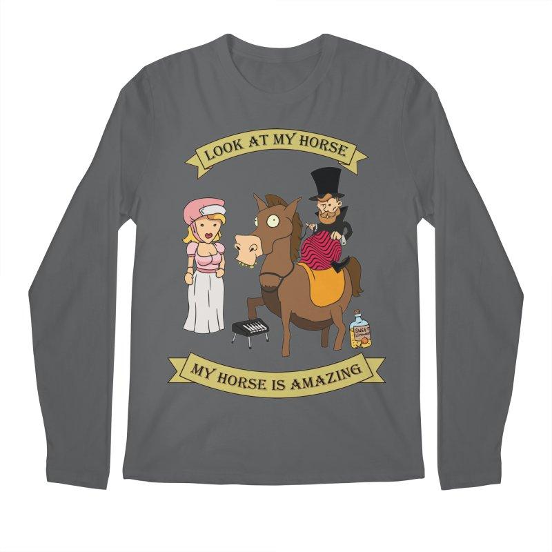 Look at my horse Men's Longsleeve T-Shirt by Mansemat & Moloch