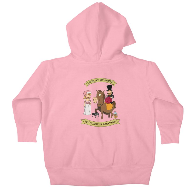 Look at my horse Kids Baby Zip-Up Hoody by Mansemat & Moloch