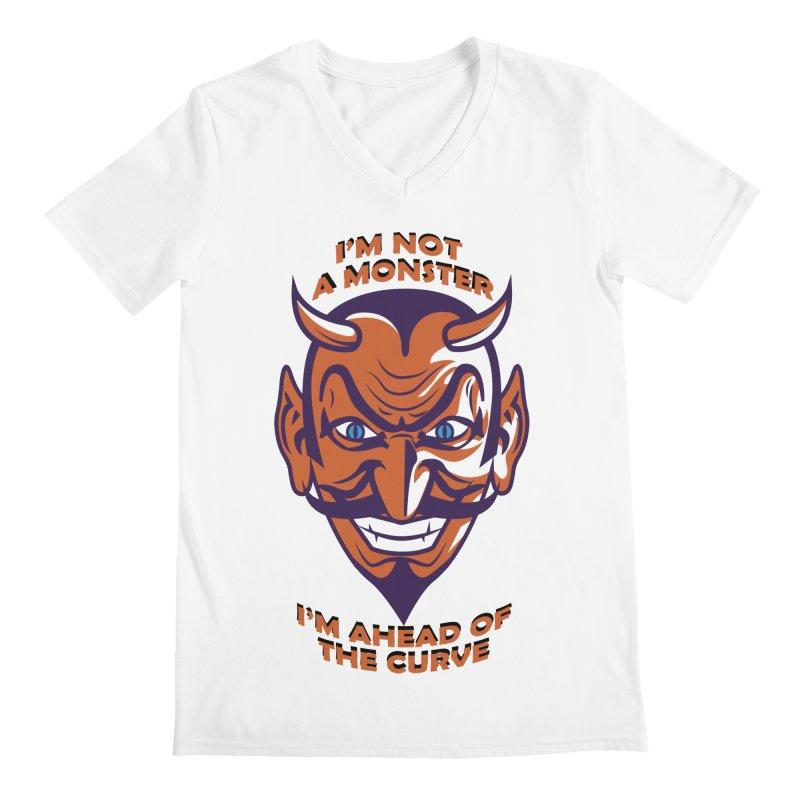 Not a monster Men's V-Neck by Mansemat & Moloch