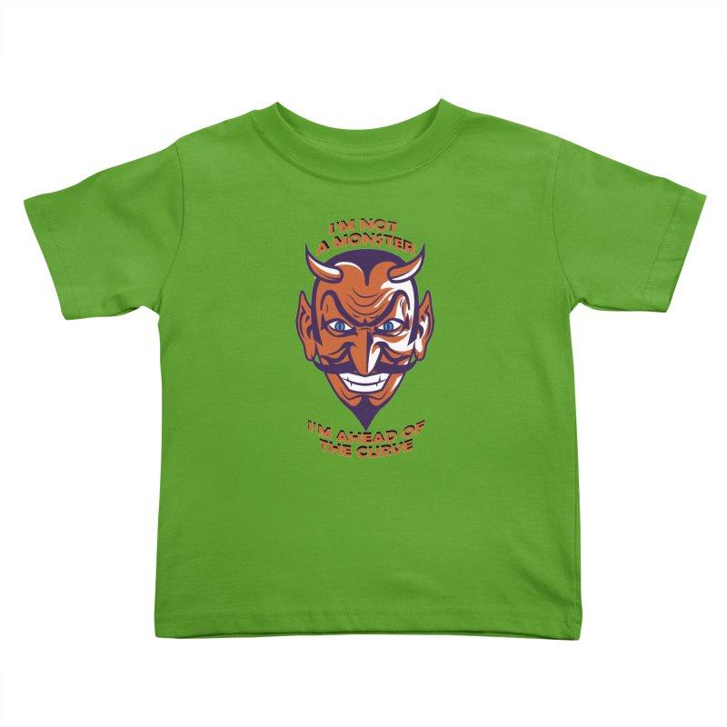 Not a monster Kids Toddler T-Shirt by Mansemat & Moloch