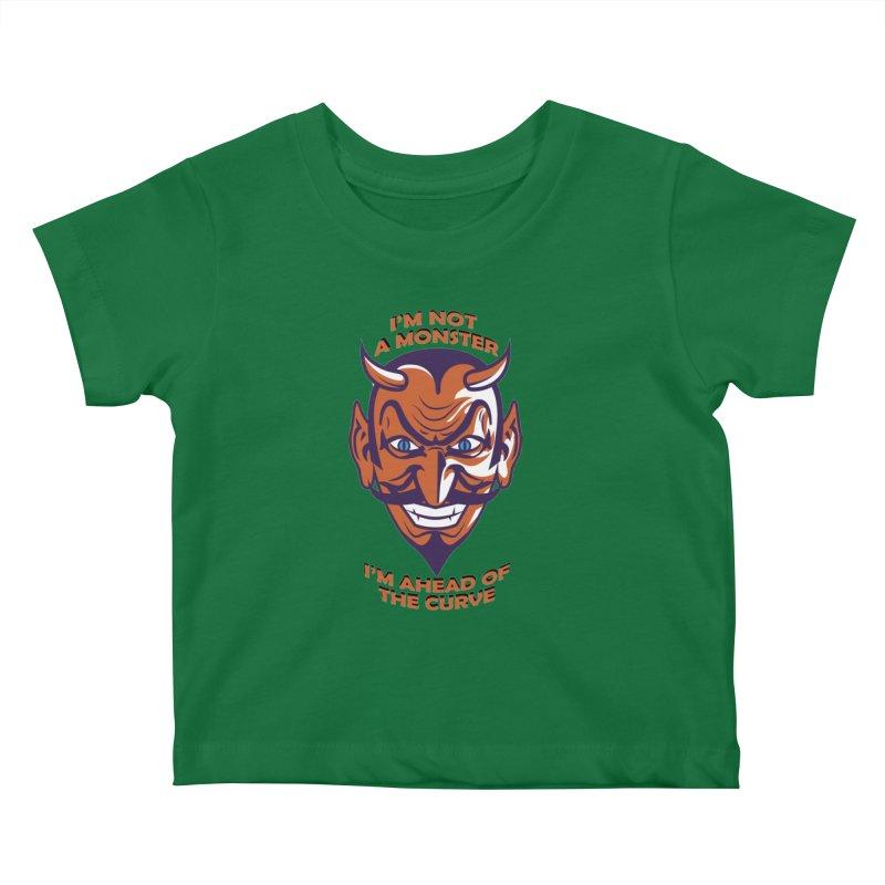 Not a monster Kids Baby T-Shirt by Mansemat & Moloch