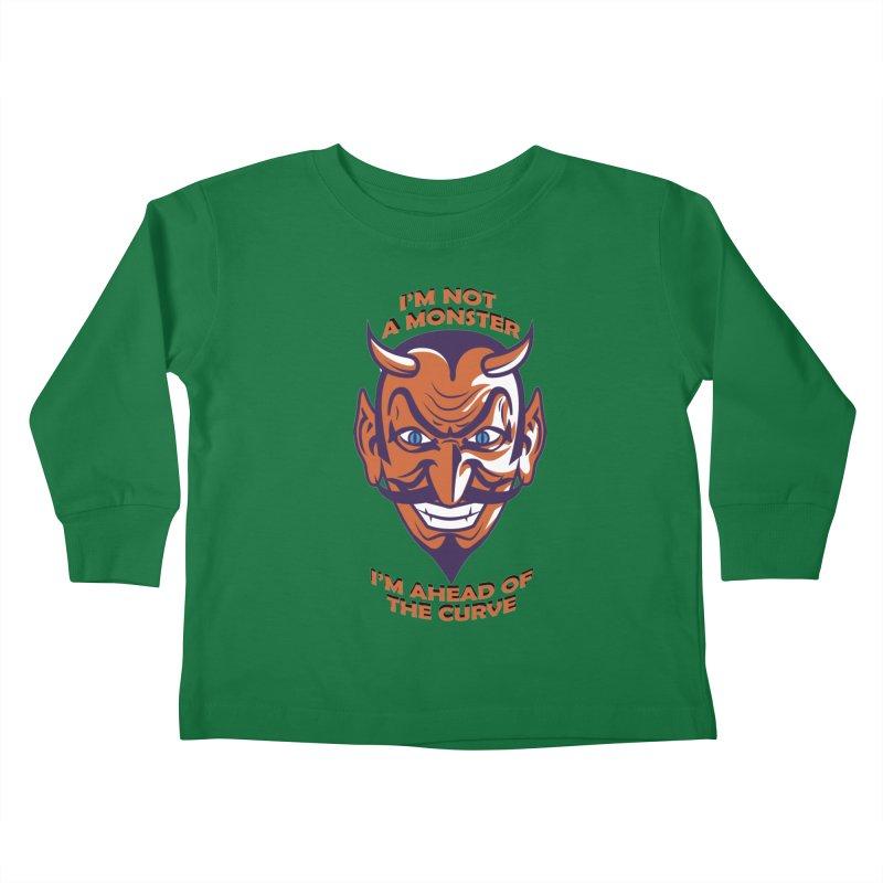 Not a monster Kids Toddler Longsleeve T-Shirt by Mansemat & Moloch