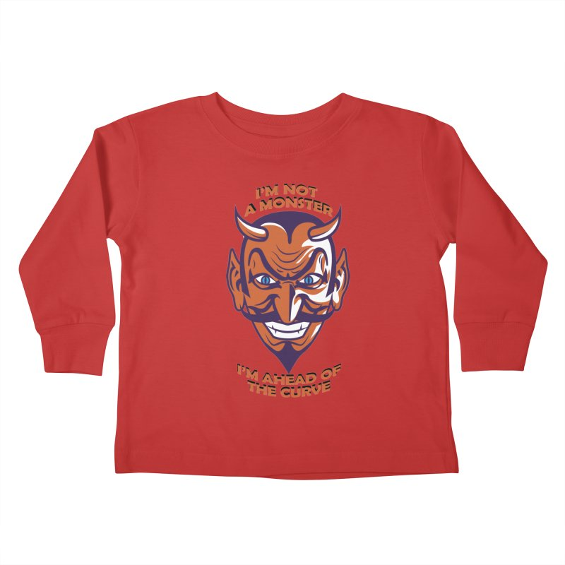 Not a monster Kids Toddler Longsleeve T-Shirt by Mansemat & Moloch