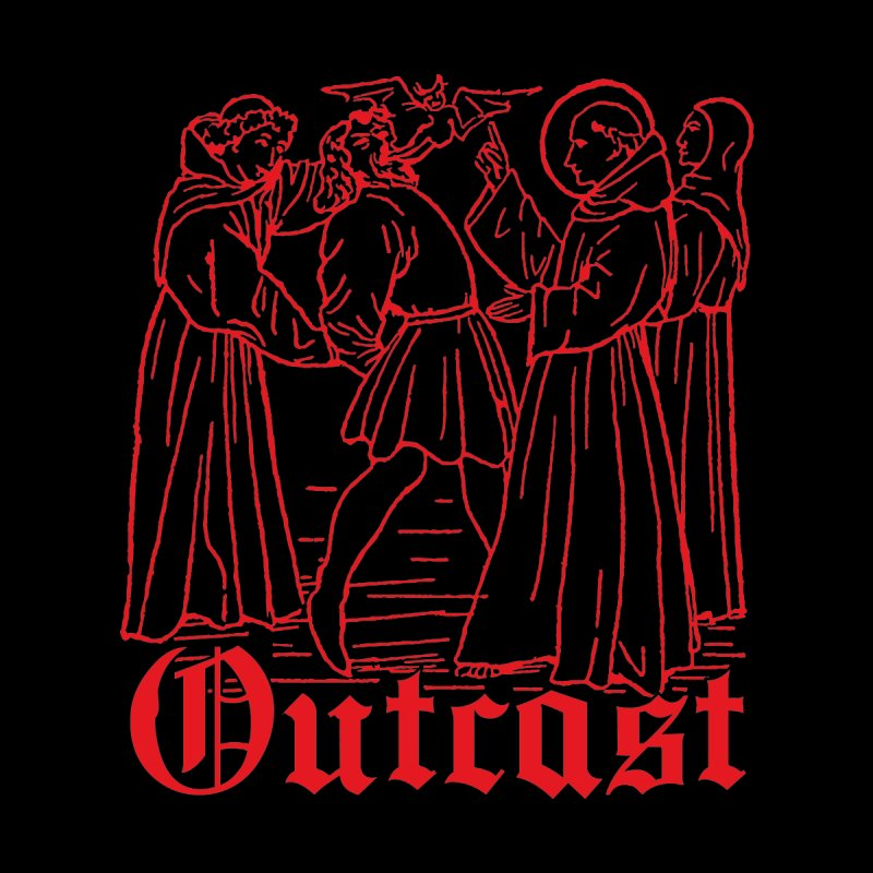 Outcast Men's T-Shirt by Mansemat & Moloch