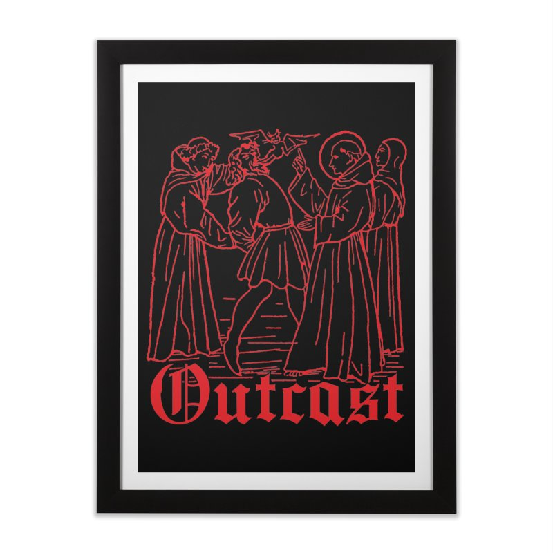 Outcast Home Framed Fine Art Print by Mansemat & Moloch