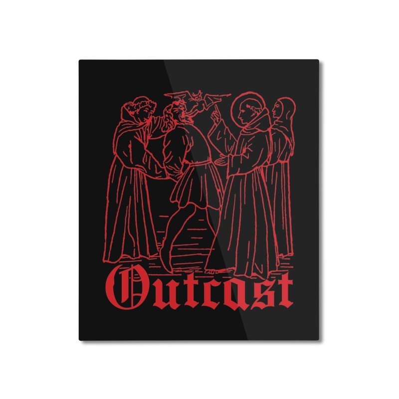 Outcast Home Mounted Aluminum Print by Mansemat & Moloch