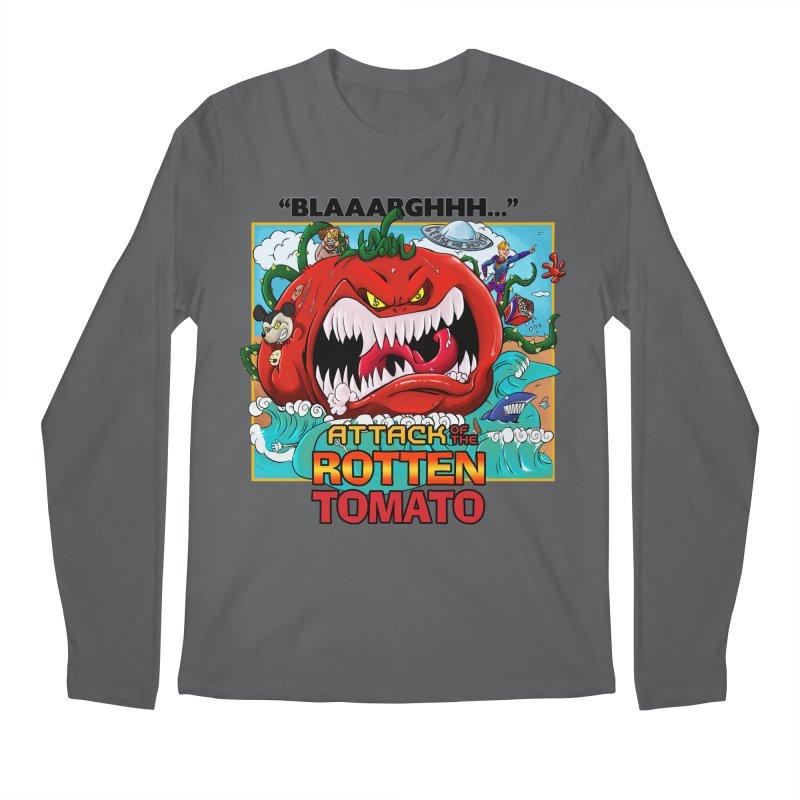 Attack of the Rotten Tomato Men's Longsleeve T-Shirt by Mansemat & Moloch