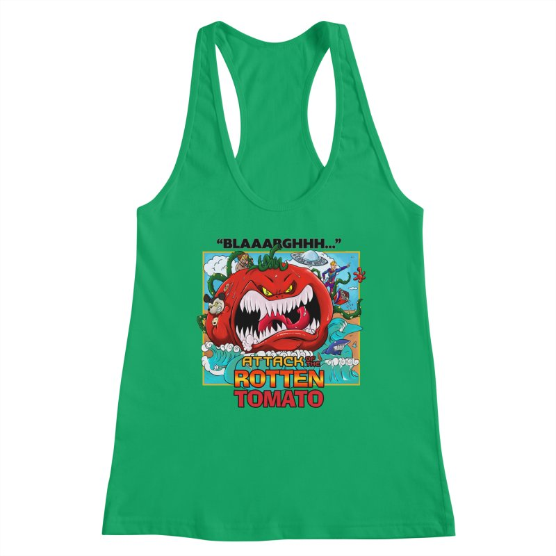 Attack of the Rotten Tomato Women's Tank by Mansemat & Moloch