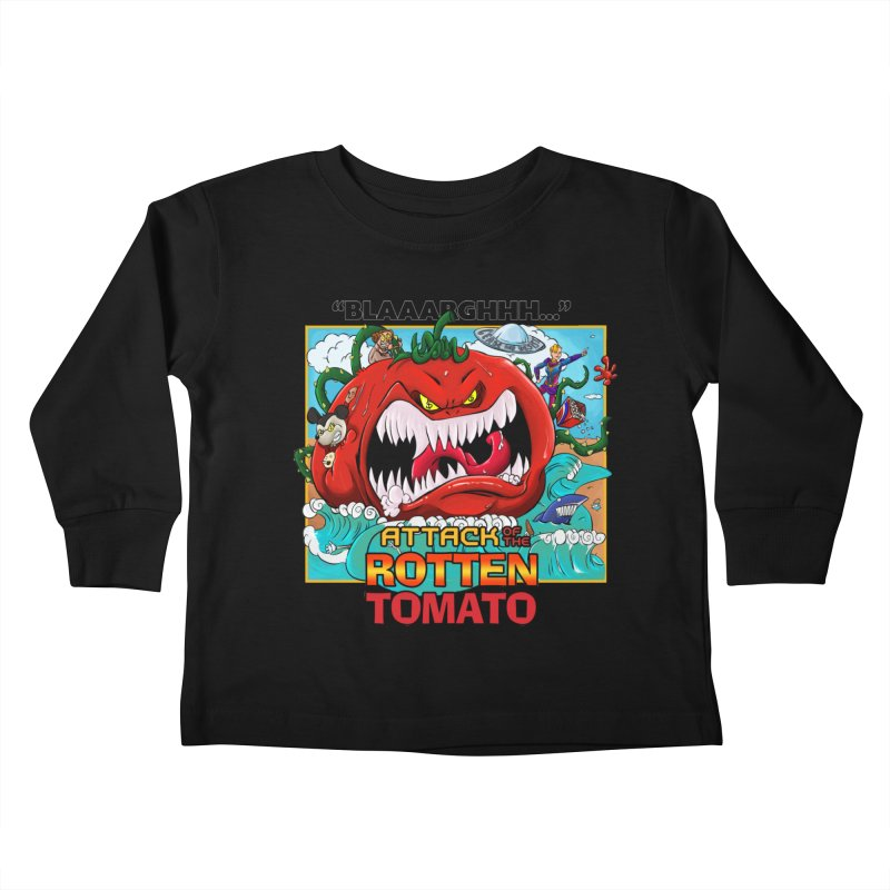 Attack of the Rotten Tomato Kids Toddler Longsleeve T-Shirt by Mansemat & Moloch
