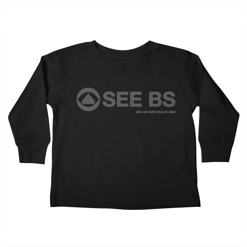 See BS Kids Toddler Longsleeve T-Shirt by Mansemat & Moloch