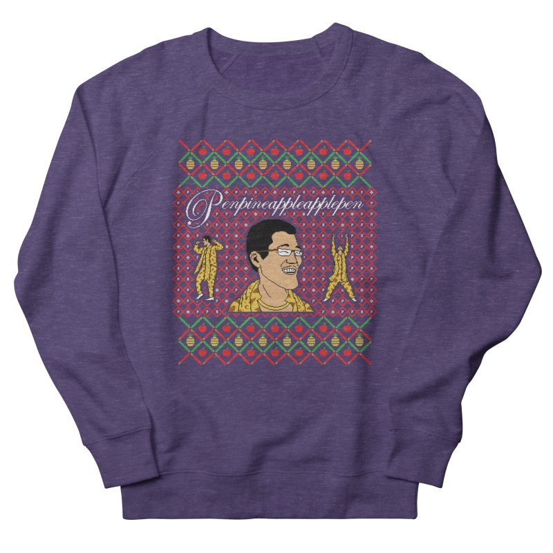 PPAP on earth! in Men's French Terry Sweatshirt Heather Purple by Mantichore Design