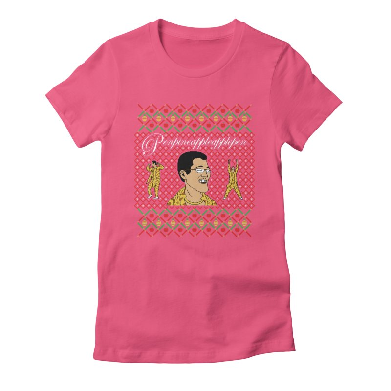 PPAP on earth! Women's Fitted T-Shirt by Mantichore Design