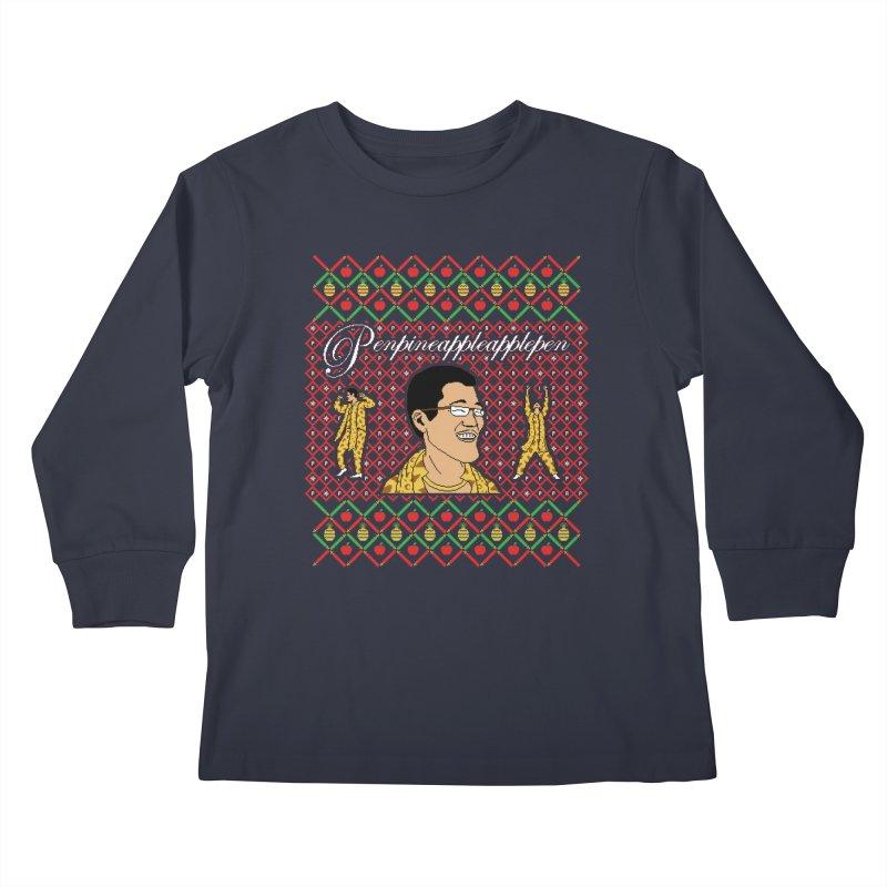PPAP on earth! Kids Longsleeve T-Shirt by Mantichore Design