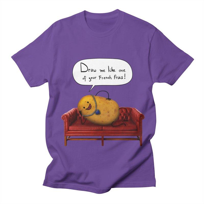 Couch Potato Men's Regular T-Shirt by Mantichore Design