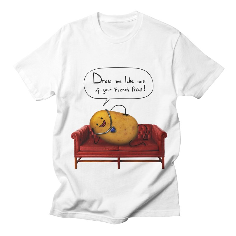 Couch Potato Men's T-Shirt by Mantichore Design