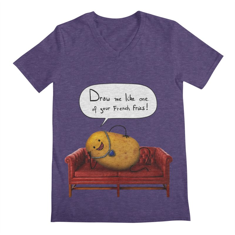 Couch Potato Men's V-Neck by Mantichore's Artist Shop