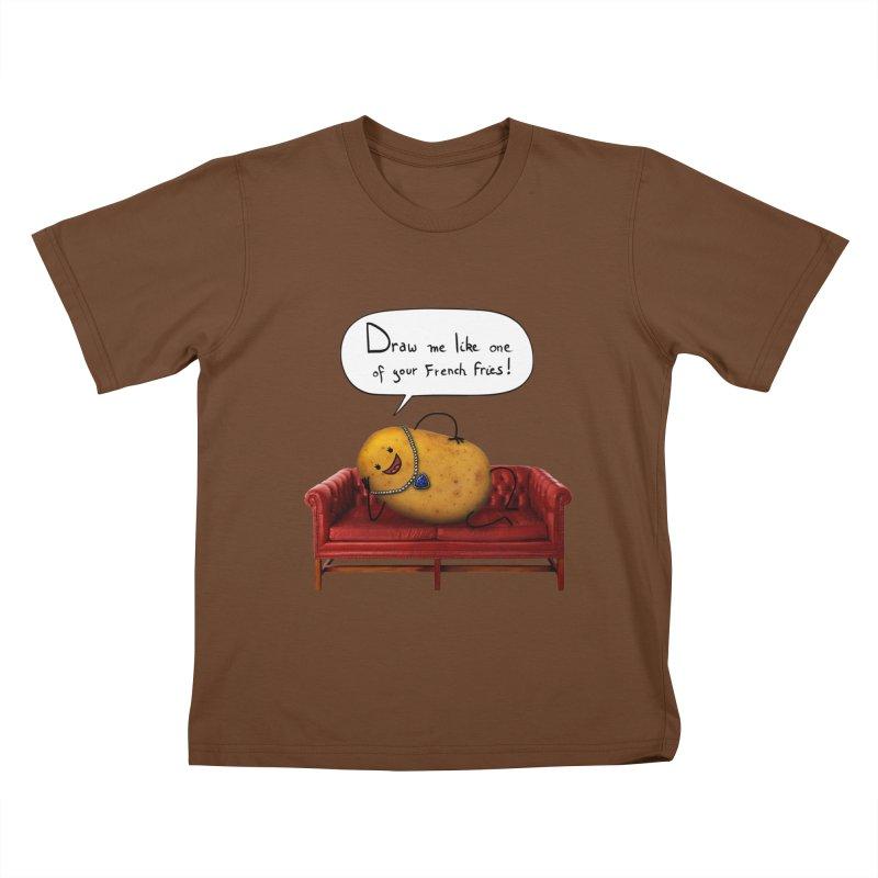 Couch Potato Kids T-Shirt by Mantichore Design