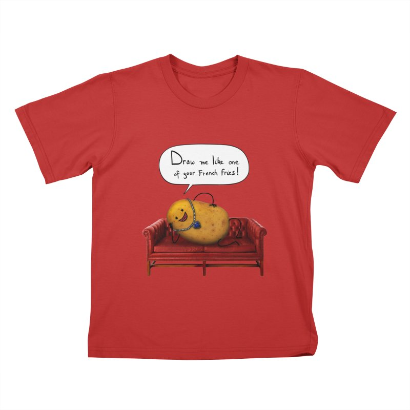 Couch Potato Kids T-shirt by Mantichore's Artist Shop