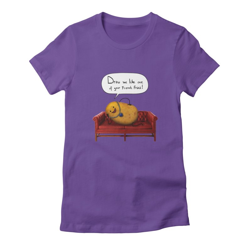 Couch Potato Women's T-Shirt by Mantichore Design