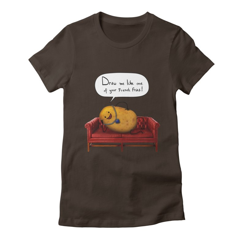 Couch Potato Women's Fitted T-Shirt by Mantichore's Artist Shop