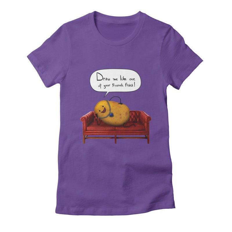 Couch Potato Women's T-Shirt by Mantichore Design