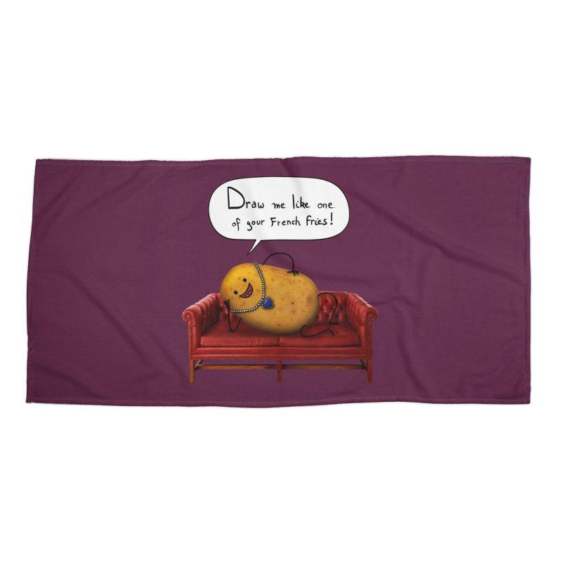 Couch Potato Accessories Beach Towel by Mantichore's Artist Shop