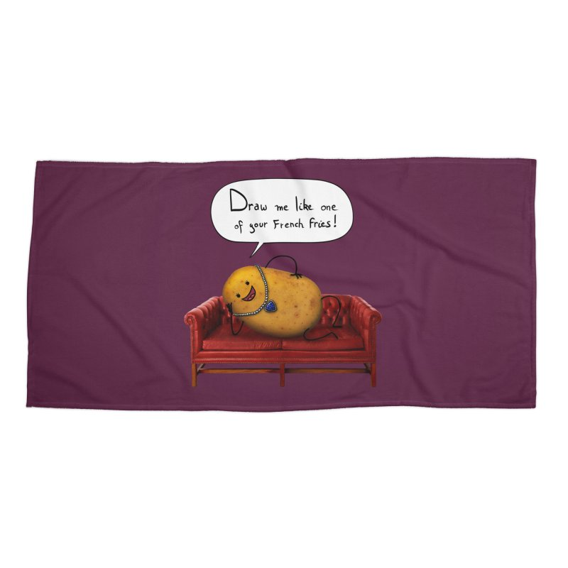 Couch Potato Accessories Beach Towel by Mantichore Design