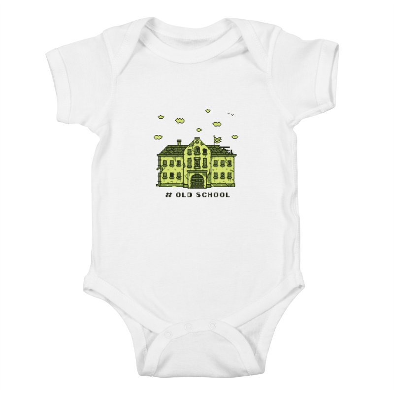 #oldschool Kids Baby Bodysuit by Mantichore Design